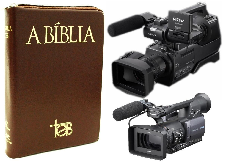Biblia-TEB clássica e filmadoras